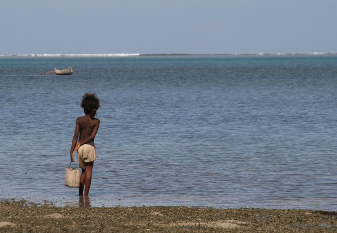 Sur la plage d'IFATY.