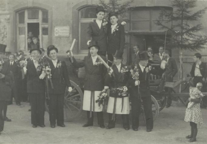 Kirmesgesellschaft 1952/ Archiv Th. Appelfelder