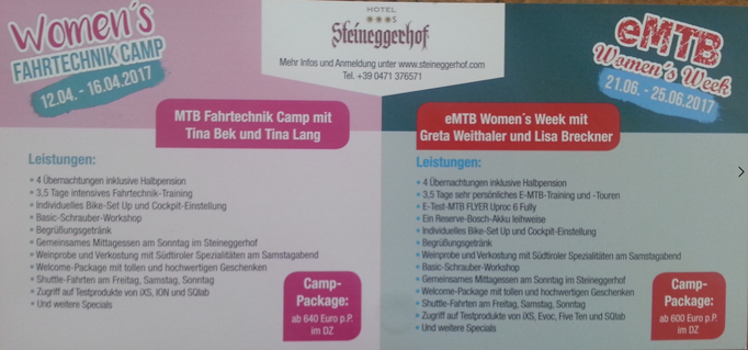 Women's Bike Camp Steineggerhof