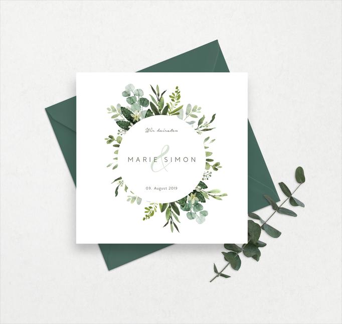 Greenery Einladung