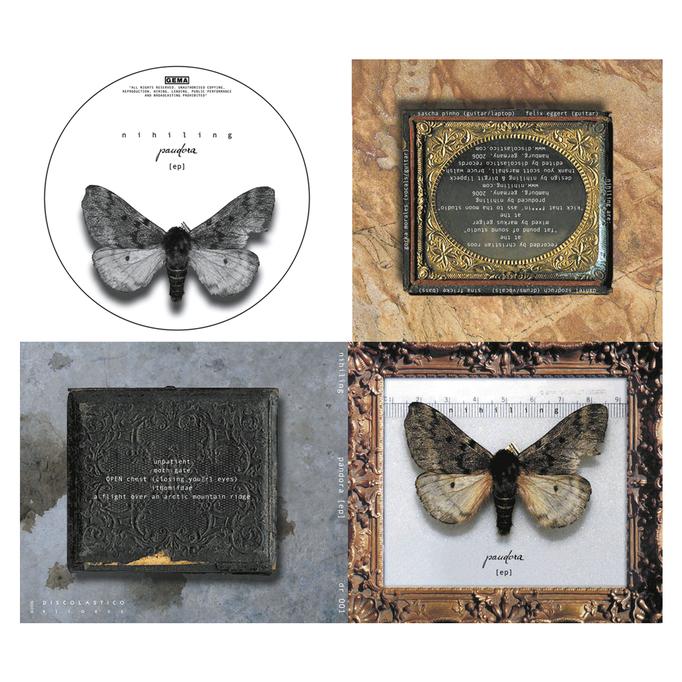 CD-Cover (Jewel Case) NIHILING – PANDORA  (EP)  |  Tools: Bandzugfeder, Tinte, Papier, Photoshop, Illustrator