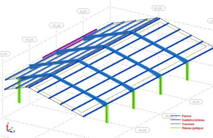 Modèle de calcul d'un hangar