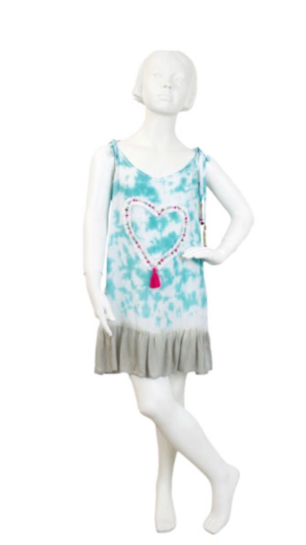 Dress Atlantico Heart, türkis, Gr 4/6/8 ( out of stock)/10/12, 54,90€