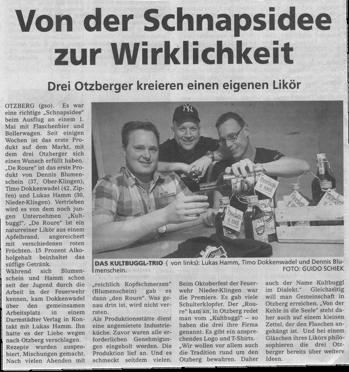 Schnappsidee aus dem Dieburger Anzeiger