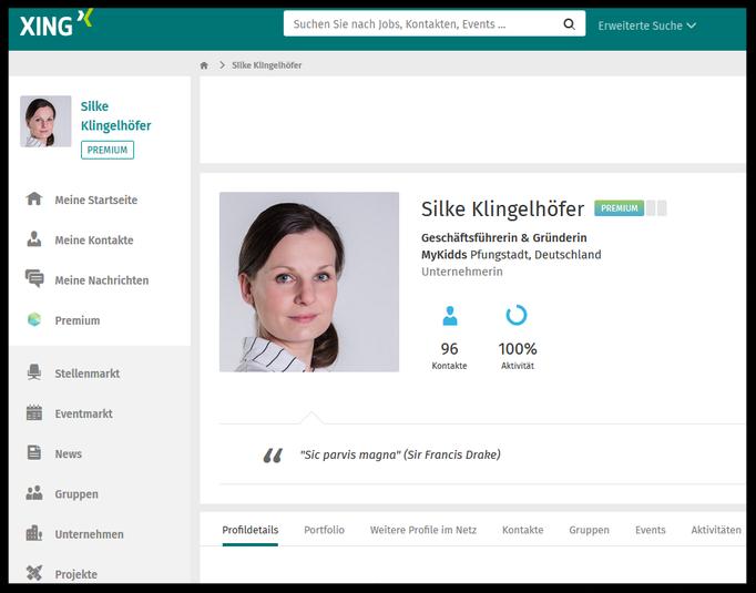Xing-Profil von Silke Klingelhöfer