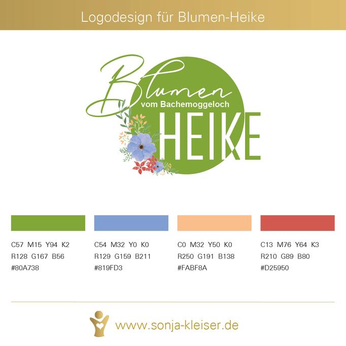 Logodesign für Blumen-Heike