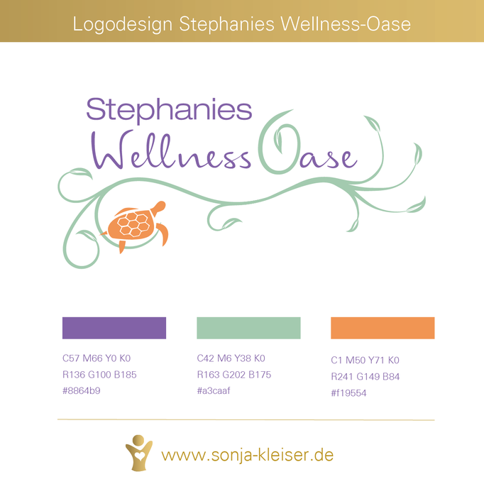 Logodesign für Stephanies Wellness-Oase