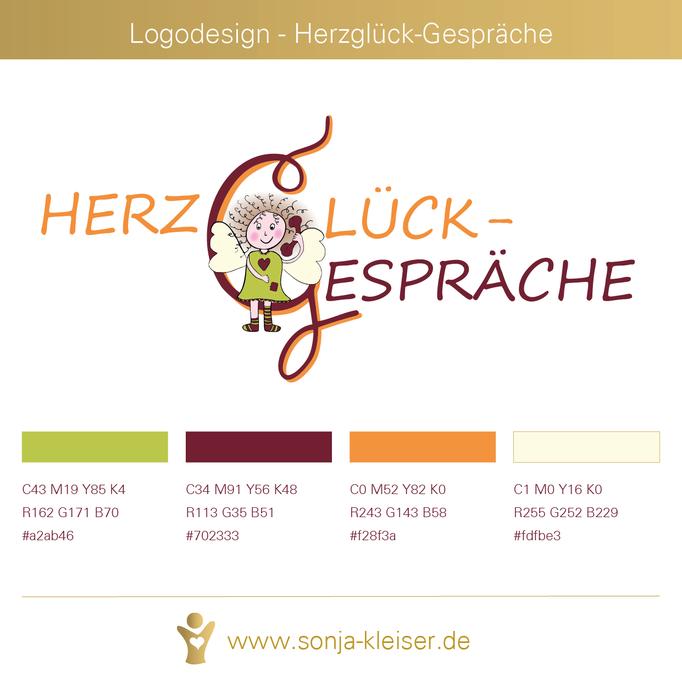 Logodesign für Herzglück-Gespräche