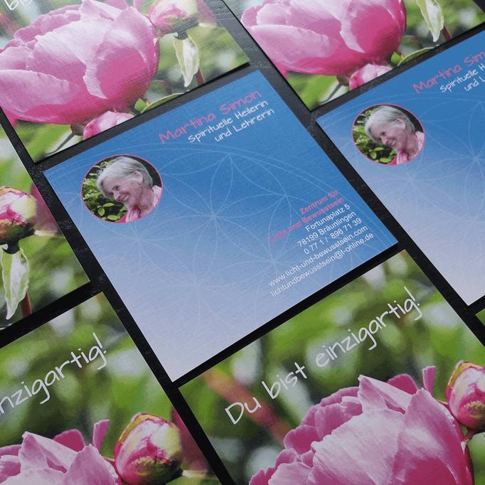 Flyer für Martina Simon - Zentrum für Licht und Bewusstsein