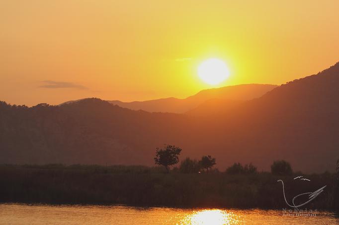 Sonnenuntergang am Köyceğiz Gölü