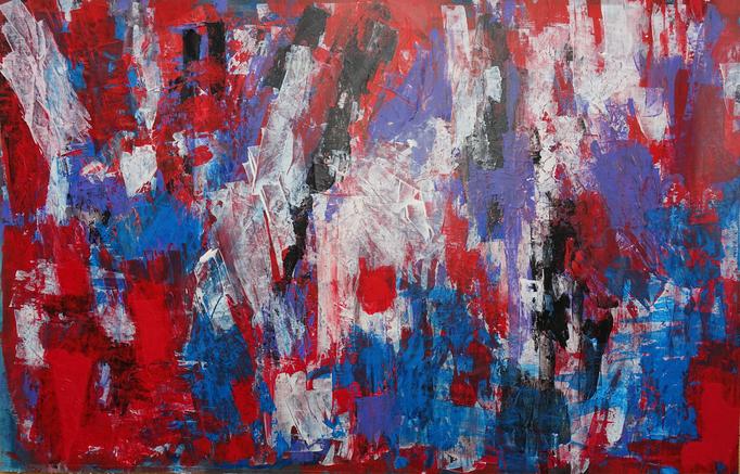 Johanna Schott // o. T. 13 // Acryl auf Papier // 47,5 x 73 cm // 2019