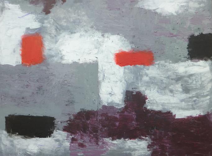 Johanna Schott // Hafen und Meer // Acryl auf Leinwand // 60 x 80 cm // 2016