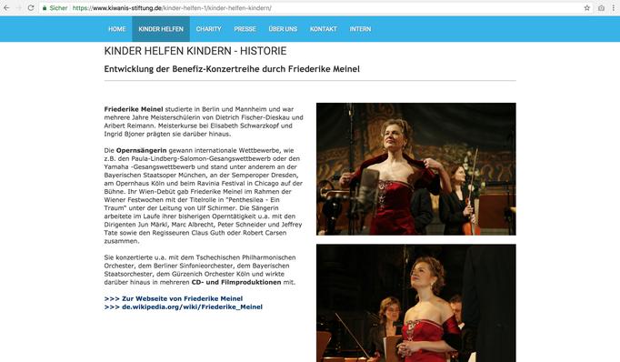 Webseite Kiwanis Stiftung Deutschland