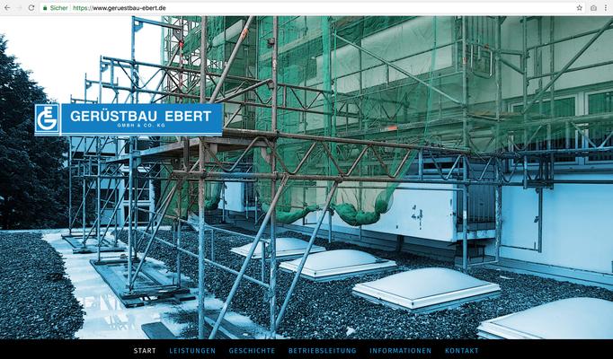 Firmenhomepage EBERT Wiesbaden https://www.geruestbau-ebert.de/