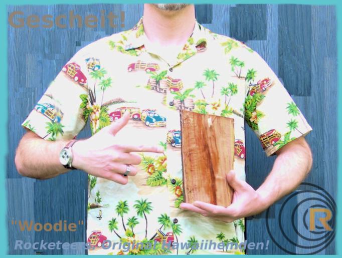 Original Hawaiihemd von Rocketeers!  Woodie