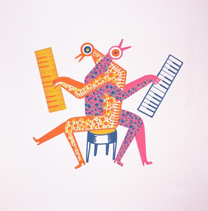 Dueto de piano en si bemol mayor, con urticaria idiopática crónica sin etiopatogenia específica