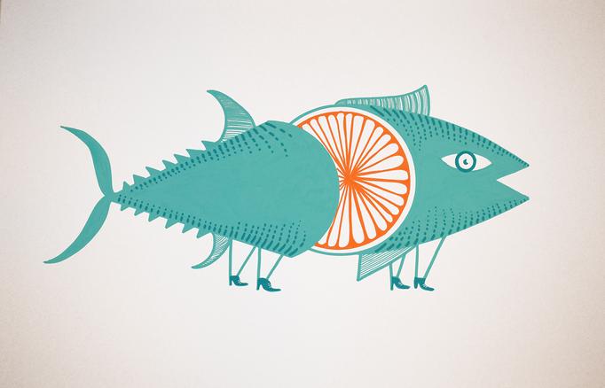 Orange tuna