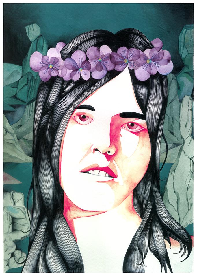 Corona de violetas. Cecilia