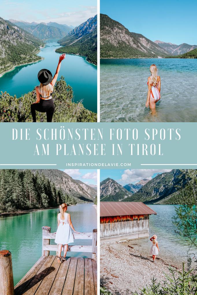 Wandern zum schönsten Plansee Aussichtspunkt in Tirol. In meinem Blogbeitrag findet ihr die Wegbeschreibung zu Wanderung zum Plansee Fotospot an der Jägerhütte, den ihr über den Jägersteig erreicht. Die Bergtour führt euch zum schönsten Foto Spot und Inst