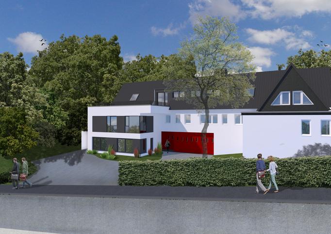 Anbau an ein Einfamilienhaus