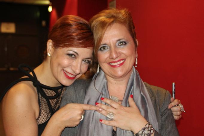 Con Pilar Jurado