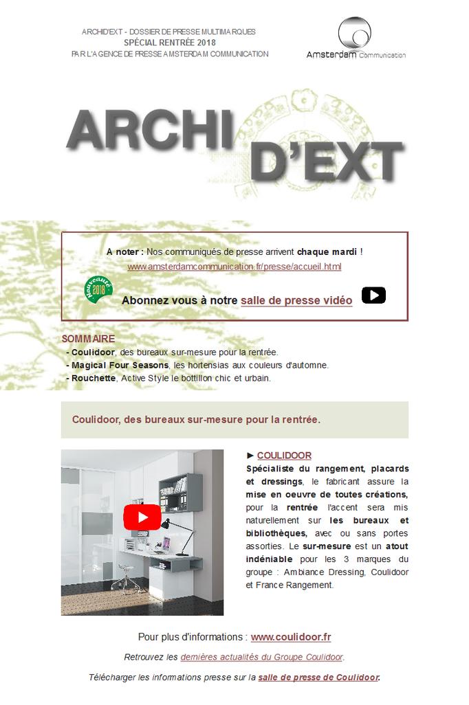 Archid'Ext, spécial Rentrée 2018 - Coulidoor