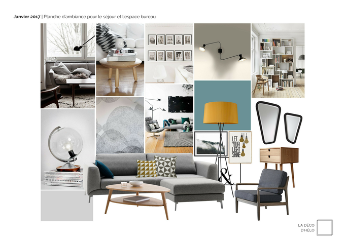 La Déco d'Hélo | Ambiance pour le rafraîchissement de l'espace de vie d'un appartement avec cuisine ouverte à Grenoble (Isère, 38).