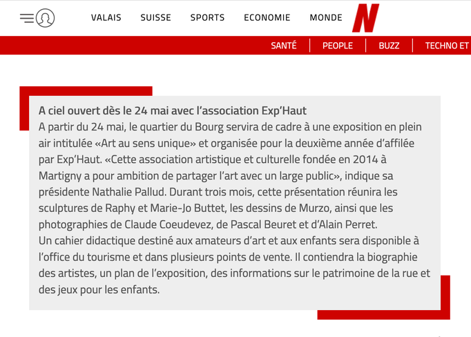 Le Nouvelliste // 9 mai 2019
