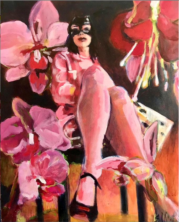 Stephanie Nückel   Dark blossoms   100 x 80 cm  2013  Acryl auf Leinwand