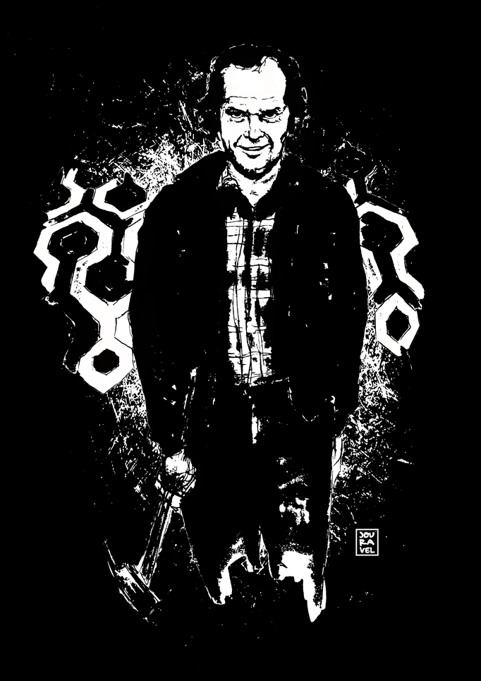 Jack Nicholson, The Shining. Print on demand