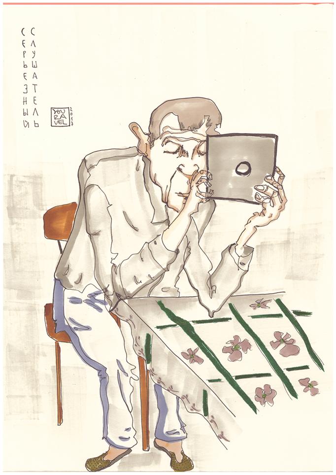 Portrait Karikatur von meinem Opa 2017