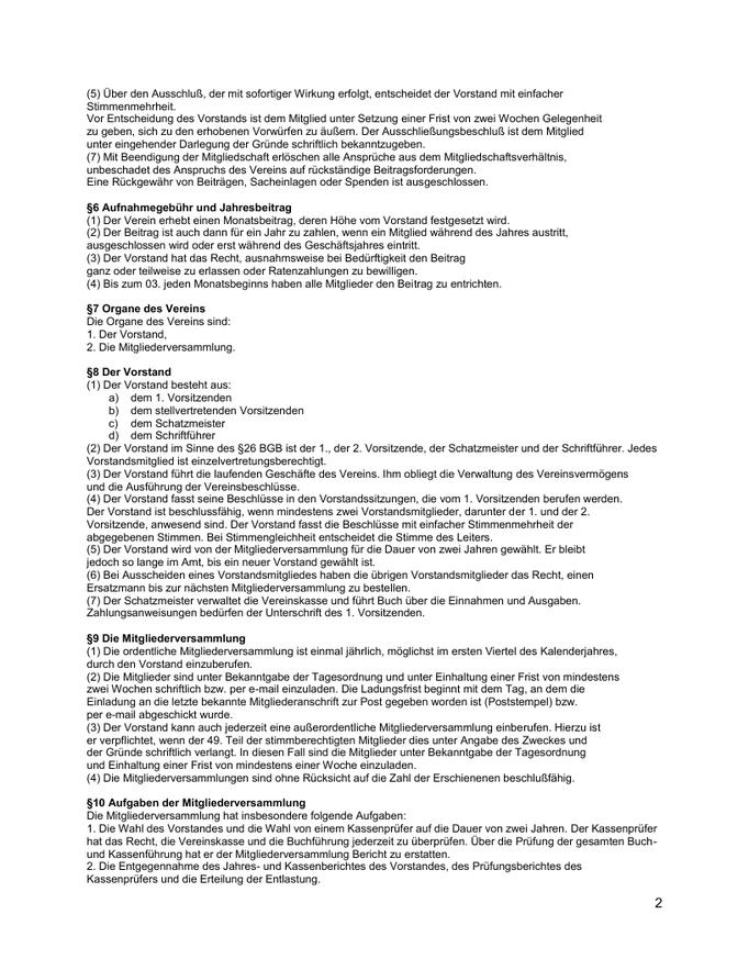 Vereinssatzung Gruppe Seele e.V. Seite 02