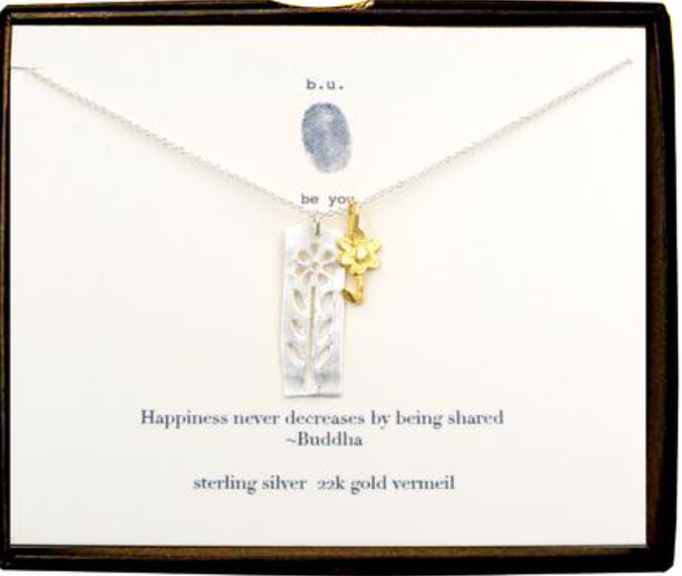 sterling silver dainty delicate jewelry earrings wire metal hoops dangly gold buddha happiness necklace bracelet stones meaningful gift mom sister grandma natural earthy b.u. flower chain tassels handmade