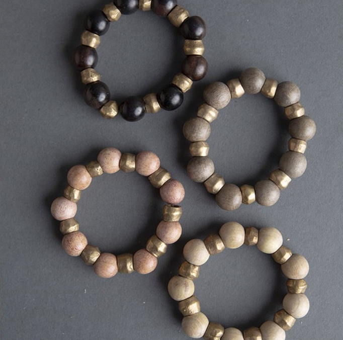 religious cross stone stick and natural earthy hippy gold beads pink nautical beachy summer fall gifts jewelry beaded cuffs bangles necklace simple boho