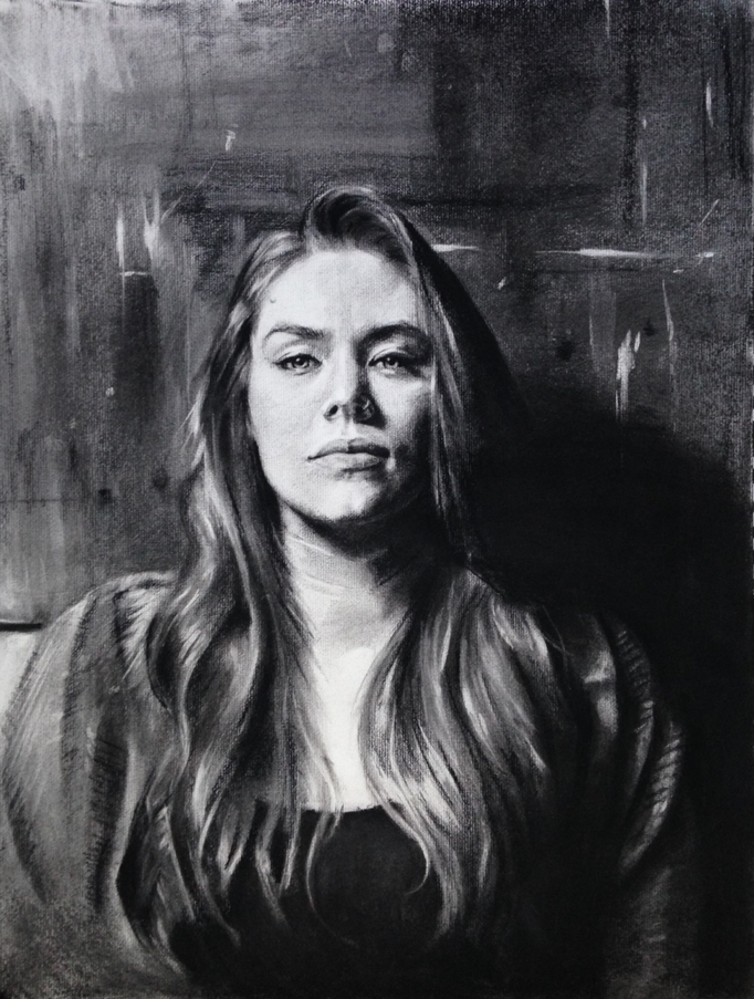"""Adolescence"" Charcoal on paper 18x24 inches"