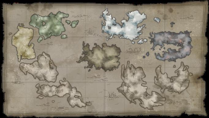 """Erstellung der Insel-Übersichtskarte für das Turn-based-Strategy-Game """"Dukes of War"""", © Mosaic Mask Studios"""
