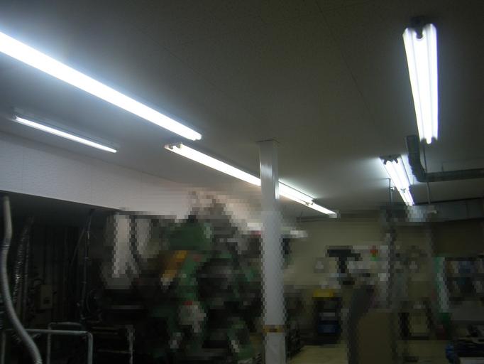 埃防止天井新設工事の工事写真