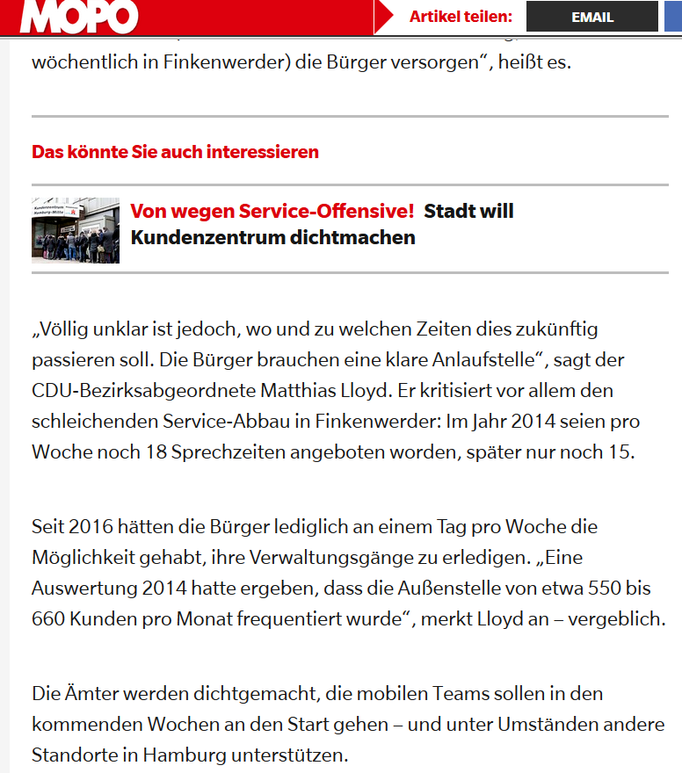 Hamburger Morgenpost vom 21.04.2017