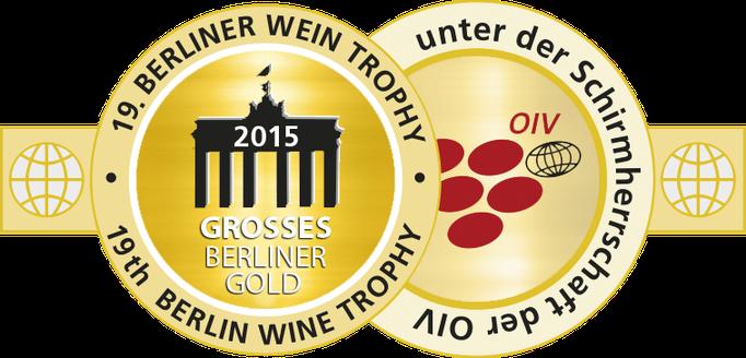 Jahrgang 2014: Goldmedaille, Berlin Wine Trophy 2015