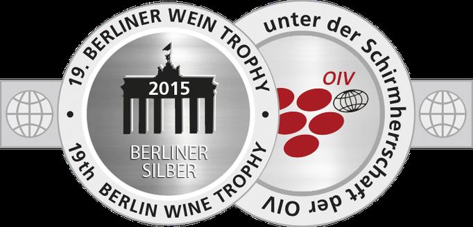 Jahrgang 2013: Silbermedaille, Berlin Wine Trophy 2015