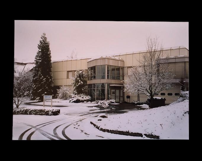 2006: Das alte Firmengebäude in Winterstimmung