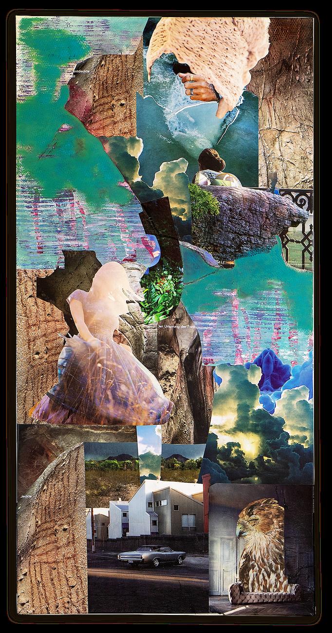 BORN THIS WAY, Collage auf Leinwand 50 cm x 100 cm