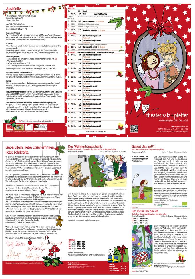 Illustration & Gestaltung    Kinderspielplan Theater Salz+Pfeffer