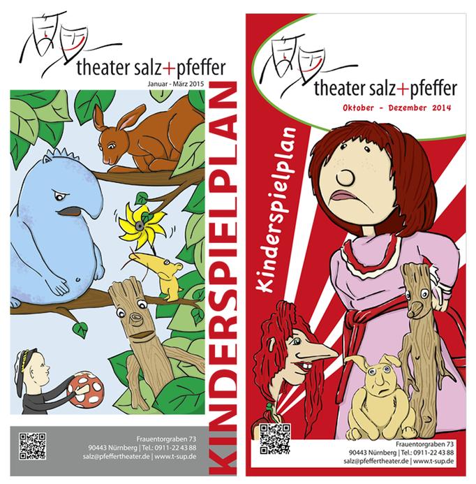Illustration & Gestaltung  | Kinderspielplan Theater Salz+Pfeffer