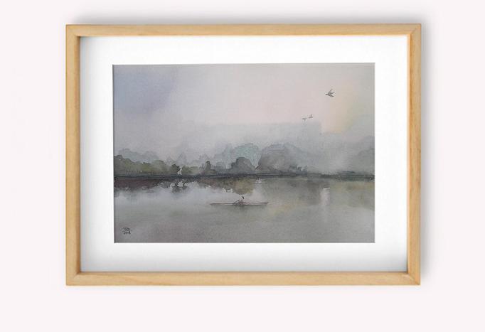 """Detalle"""" Niebla en el rio"""""""