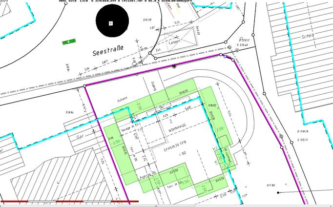 Abstandsflächenplan nach der LBOVVO