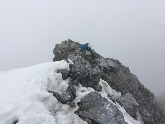Ortler Gipfel, Ortler Hintergrat