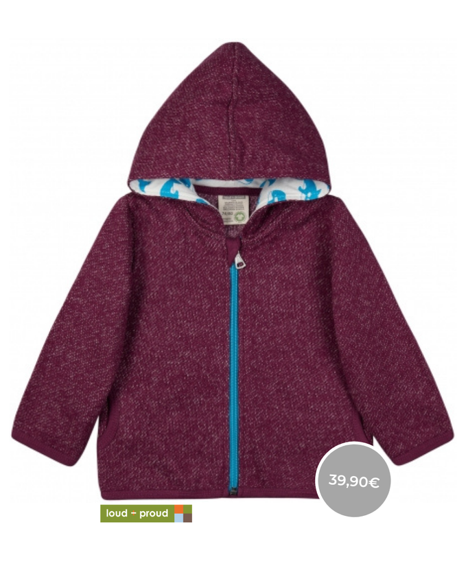 Warme Jacke von Loud & Proud Fairfashion for Kids