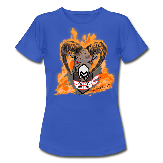 Mufflon in Flammen Sardisch T-Shirt blau