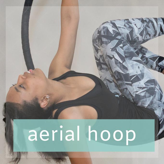 Aerial Hoop, een vorm van luchtacrobatiek